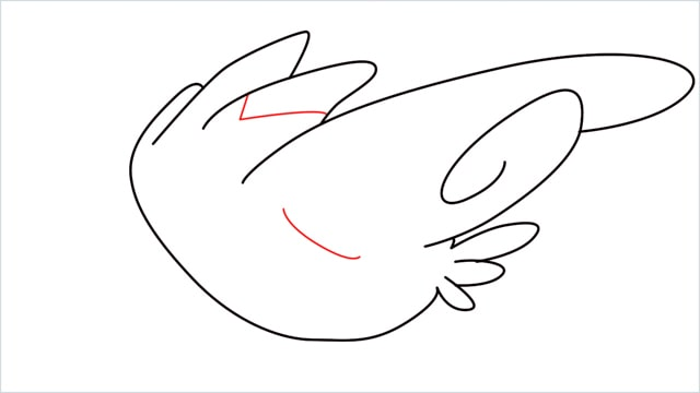 How to draw Togekiss step (6)