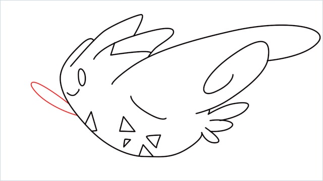 How to draw Togekiss step (9)