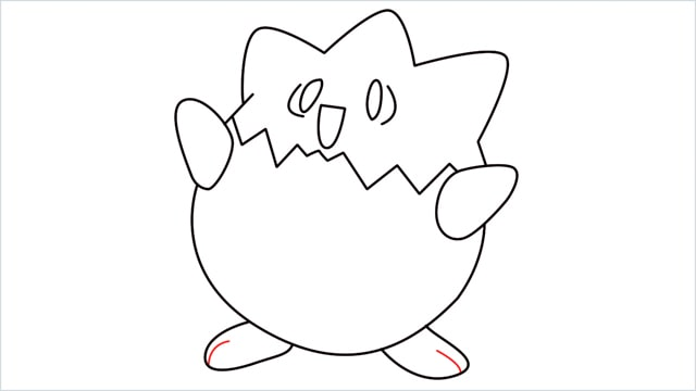 How to draw Togepi step (10)