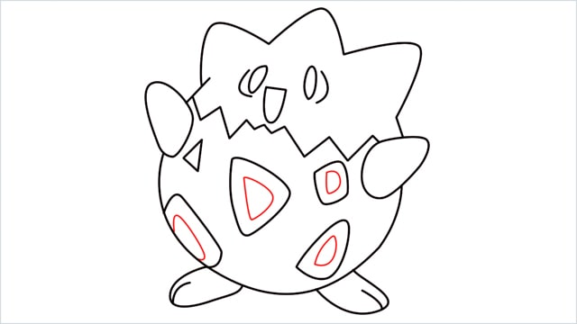 How to draw Togepi step (12)