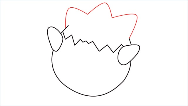 How to draw Togepi step (5)