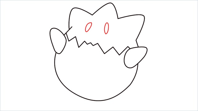 How to draw Togepi step (6)