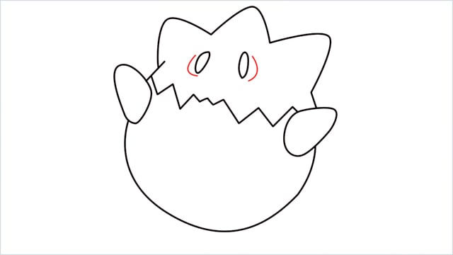 How to draw Togepi step (7)
