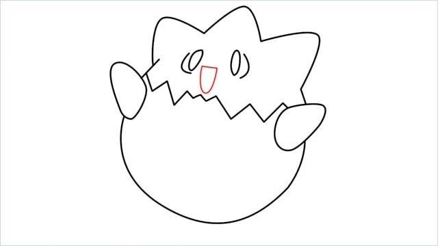 How to draw Togepi step (8)