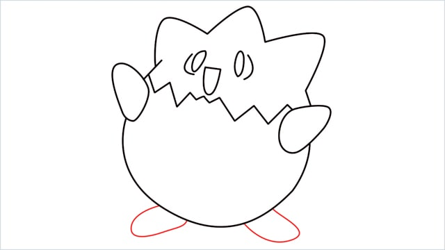 How to draw Togepi step (9)