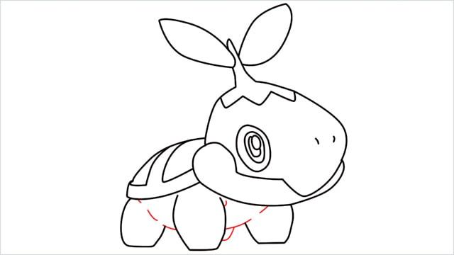 How to draw Turtwig step (10)