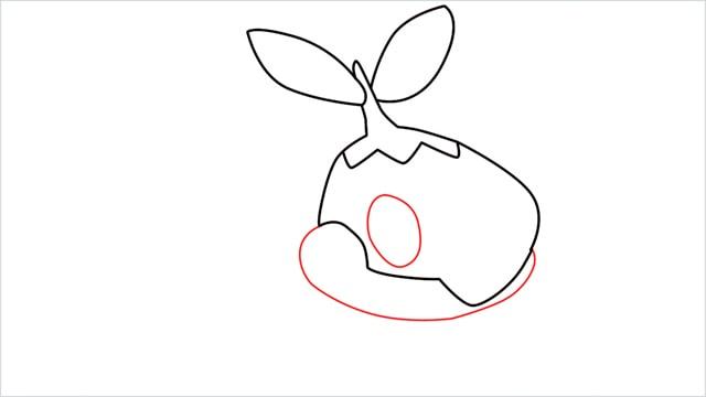 How to draw Turtwig step (4)