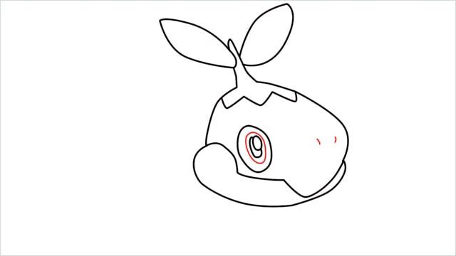 How to draw Turtwig step (6)
