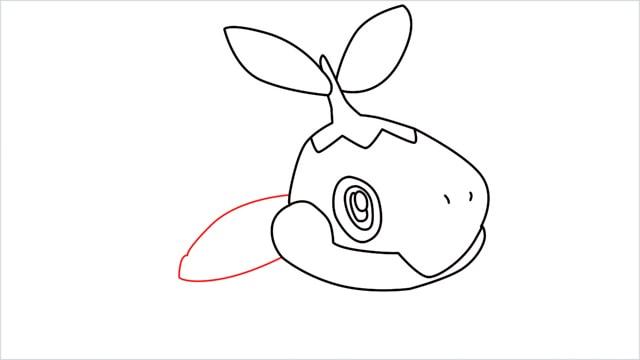 How to draw Turtwig step (7)