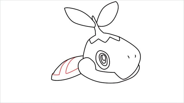 How to draw Turtwig step (8)
