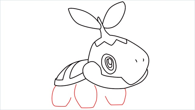 How to draw Turtwig step (9)