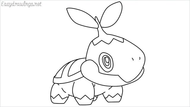 How to draw Turtwig step by step