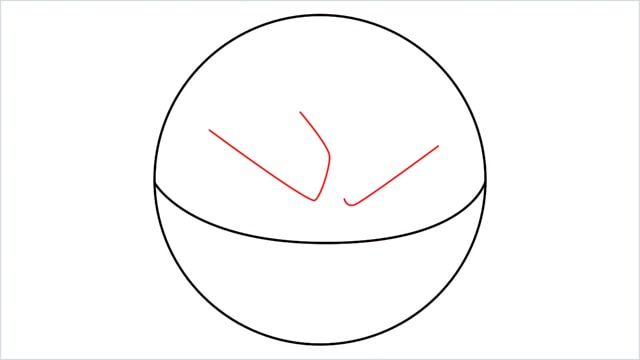 How to draw Voltorb step (3)