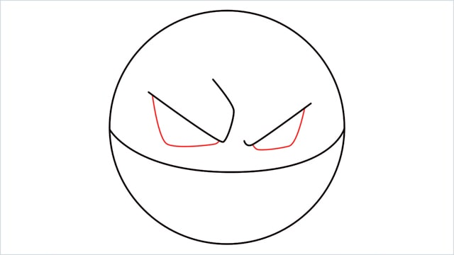 How to draw Voltorb step (4)