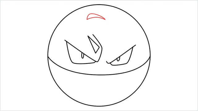 How to draw Voltorb step (6)