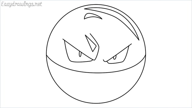 How to draw Voltorb step by step
