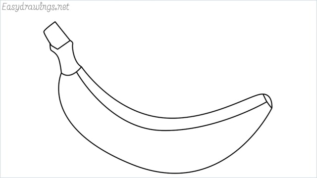 How to draw a Banana step by step