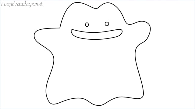 How to draw a Ditto step by step