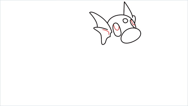 How to draw a Dratini step (6)