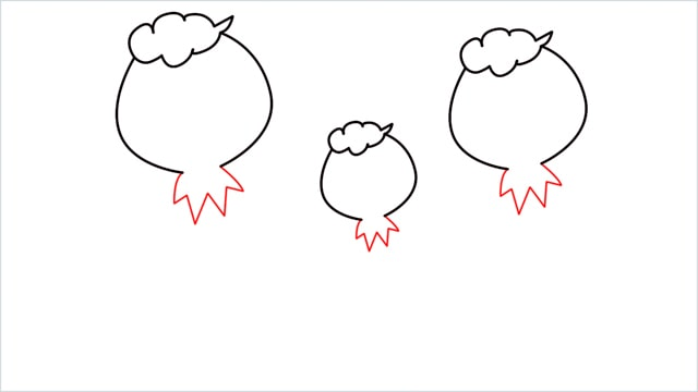 How to draw a Drifloon step (3)