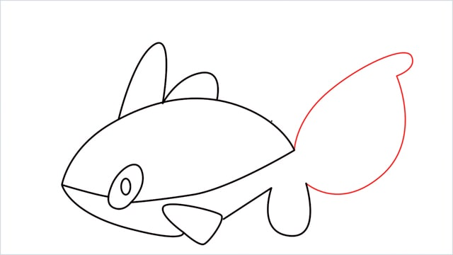 How to draw a Finneon step (7)