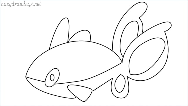 How to draw a Finneon step by step