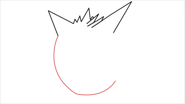 How to draw a Gengar step (3)