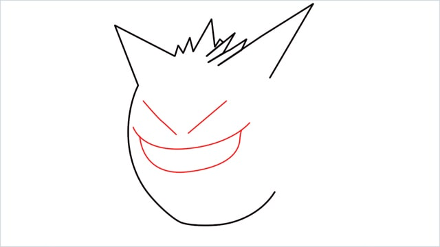 How to draw a Gengar step (4)