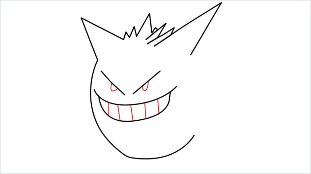 How to draw a Gengar step (5)