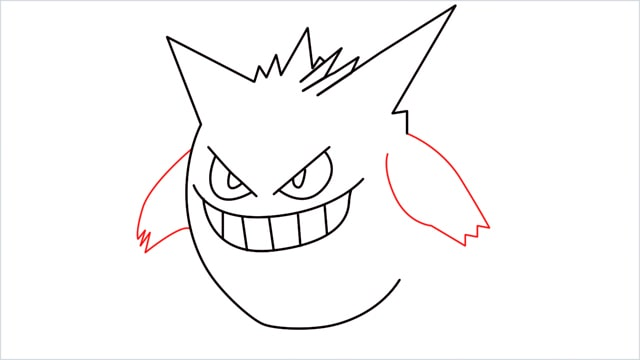 How to draw a Gengar step (7)