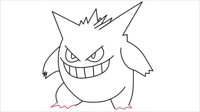 How to draw a Gengar step (9)