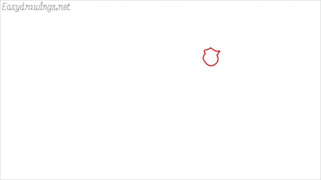 How to draw a German Shepherd step (1)