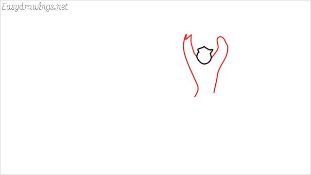 How to draw a German Shepherd step (2)
