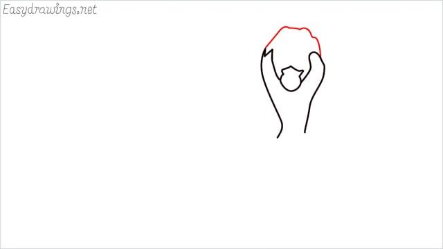 How to draw a German Shepherd step (3)