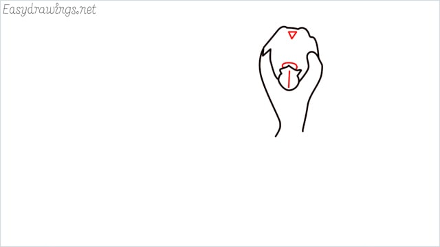 How to draw a German Shepherd step (4)