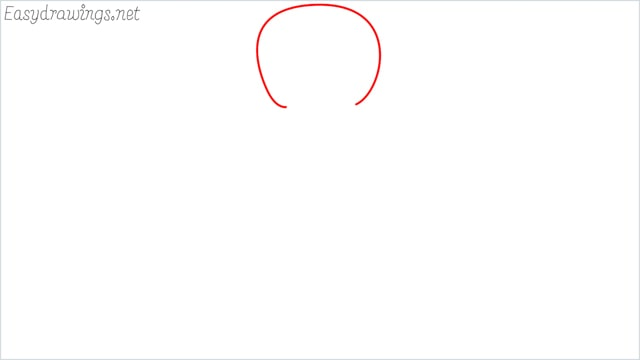 How to draw a Gingerbread Man step (1)