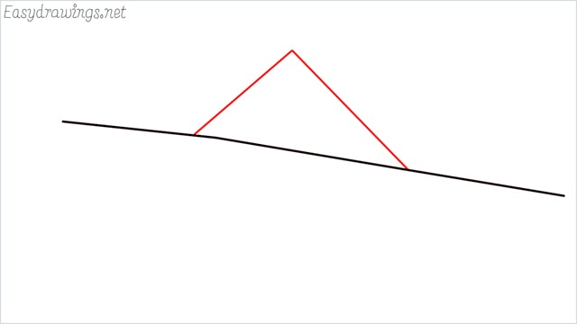 How to draw a Guest house step (2)