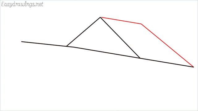 How to draw a Guest house step (3)