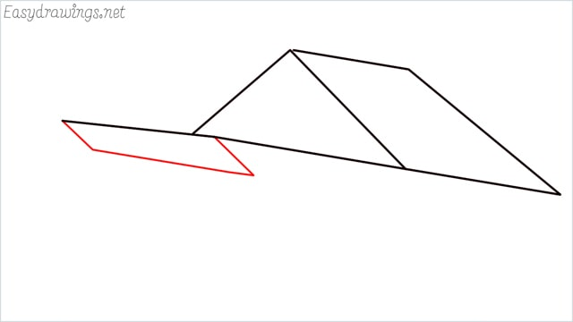 How to draw a Guest house step (4)