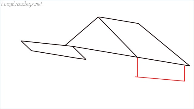 How to draw a Guest house step (5)