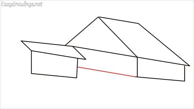 How to draw a Guest house step (7)