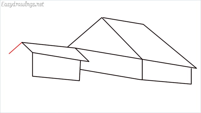 How to draw a Guest house step (8)