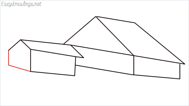 How to draw a Guest house step (9)