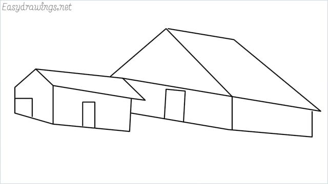 How to draw a Guest house step by step