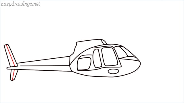How to draw a Helicopter step (10)