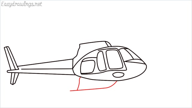 How to draw a Helicopter step (11)