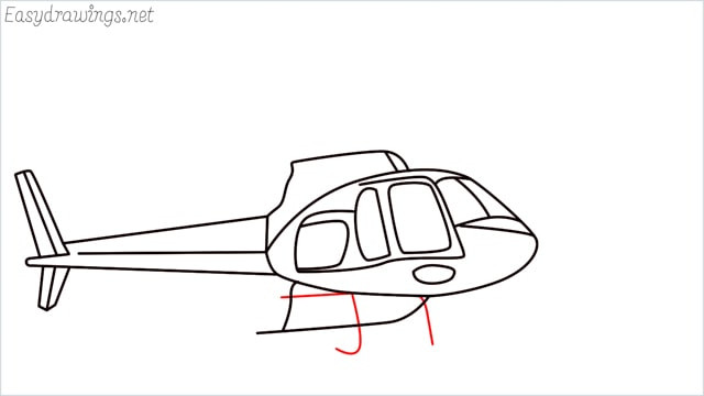 How to draw a Helicopter step (12)
