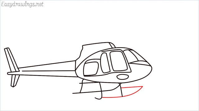 How to draw a Helicopter step (13)