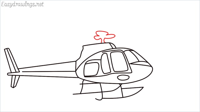 How to draw a Helicopter step (14)