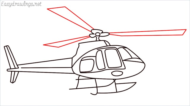 How to draw a Helicopter step (16)